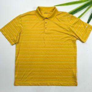 Nike Golf | Yellow Striped Polo